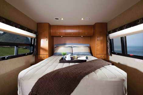 Sprinter motorhome with island bed