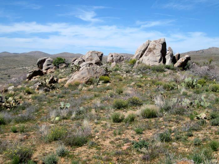 Granite boulders east of Badger Springs Wash