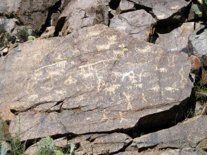 Prehistoric  petroglyphs found near the confluence of Badger Springs Wash and Agua Fria River