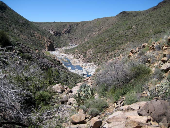 Agua Fria River Canyon near the confluence with Perry Tank Canyon