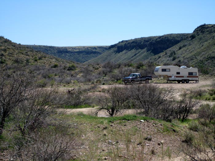 RV camping in Agua Fria National Monument near Badger Springs Wash