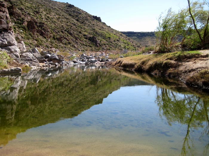 The confluence of the Agua Fria River and Badger Springs Wash