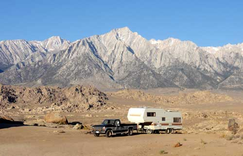 RV camping in the Alabama Hills