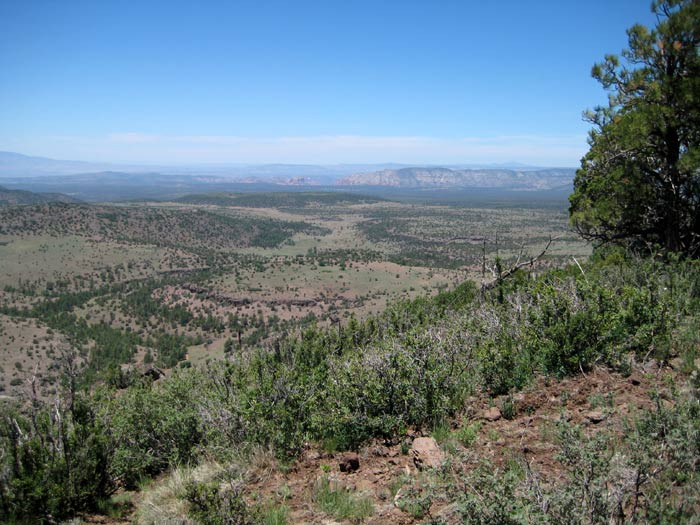 View toward the Sedona area from the top of Apache Maid Mountain (elevation 7,301 feet)