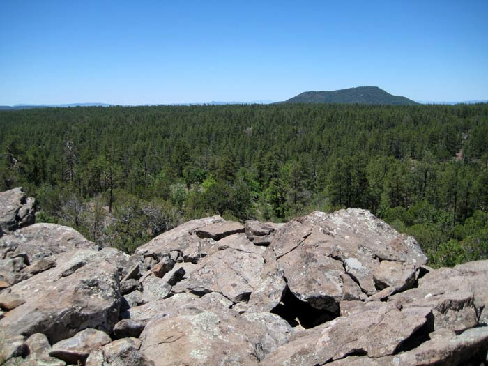 Apache Maid Mountain from a hill near Campbell Spring to the east