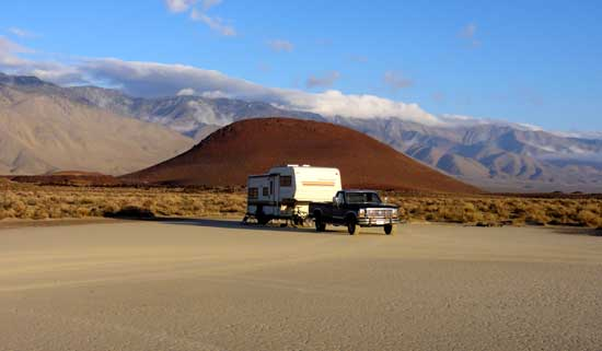 Dispersed Camping on BLM land in the Eastern Sierra, California