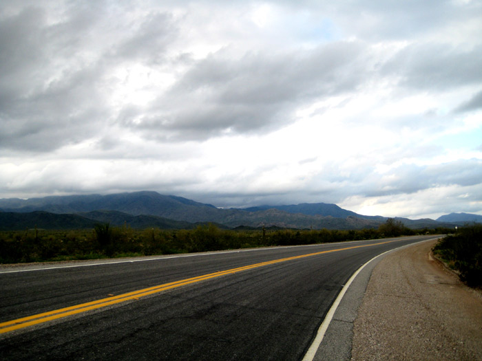 Eagle Eye Road with the Harquahala Mountains in background