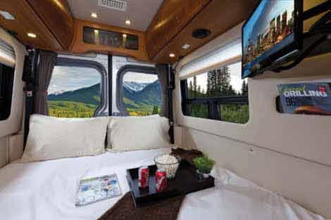Sprinter camper van by Leisure Travel Vans