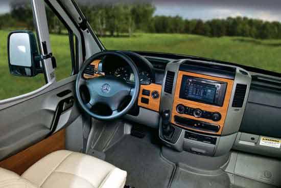 Mercedes Benz Sprinter Van Cockpit