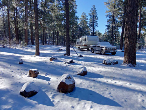 Snow Camping on the Mogollon Rim