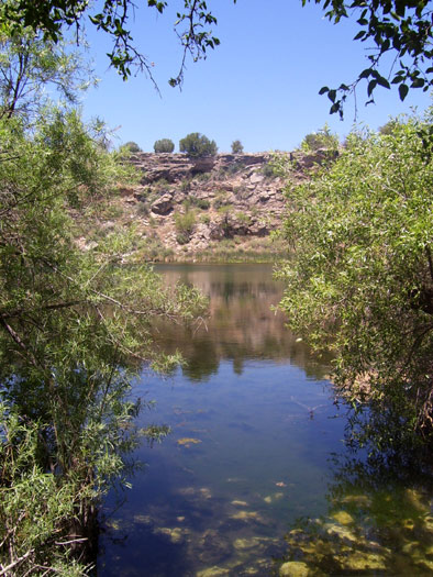 Montezuma Well near the town of Lake Montezuma