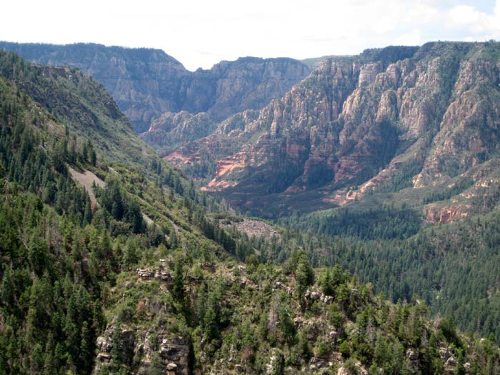 Another fine view of Oak Creek Canyon, which is often referred to as a cousin to the Grand Canyon