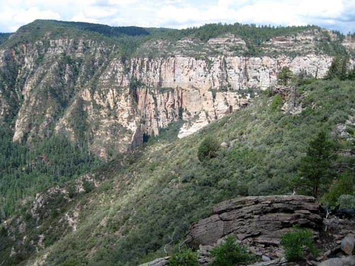 View of the canyon from the east rim while hiking Thomas Point Trail