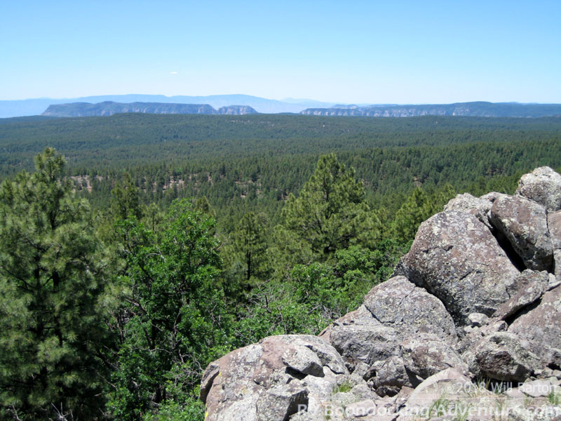 View towards Oak Creek Canyon from the top of Coulter Hill (7,712 feet in elevation)