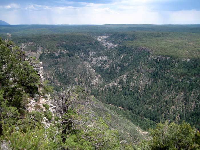 The official &#34Oak Creek Vista&#34 along US Highway 89A is below and to the left, while this picture was taken from Harding Point on the west rim of Oak Creek Canyon.