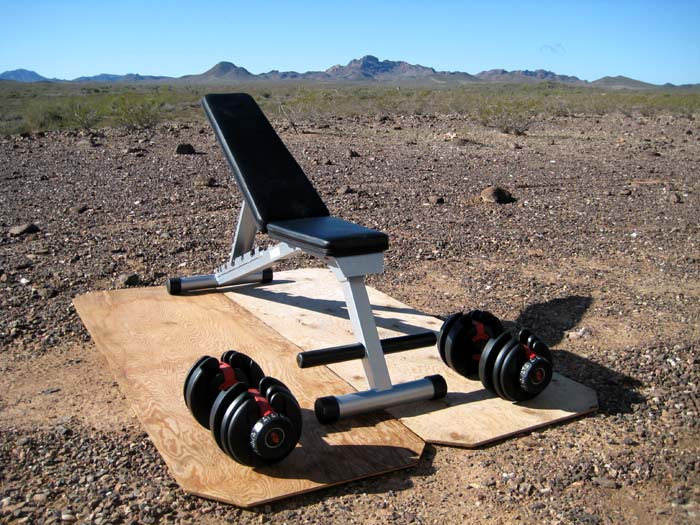 The outdoor portable gym, with a view!