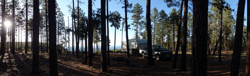 RV Boondocking on the Mogollon Rim