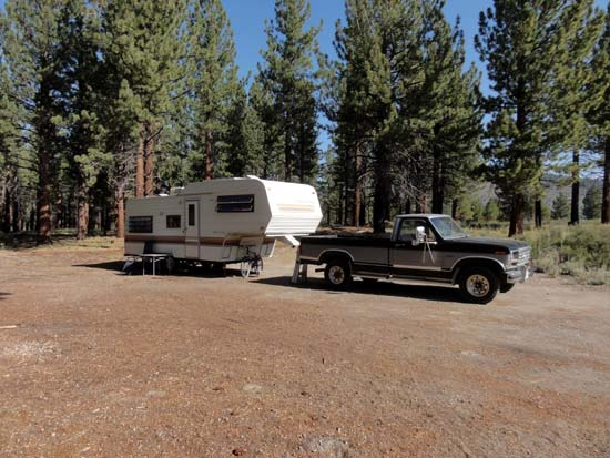 RV camping Inyo National Forest