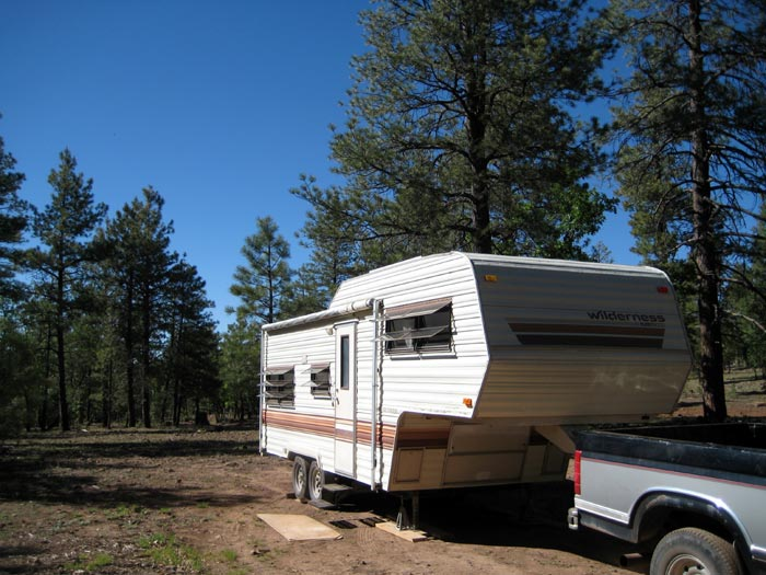 RV camping west of Priest Draw off of Coconino National Forest Road 700H