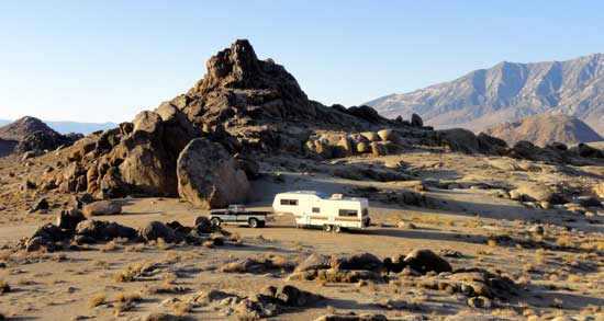 Full time RVing in the Alabama Hills