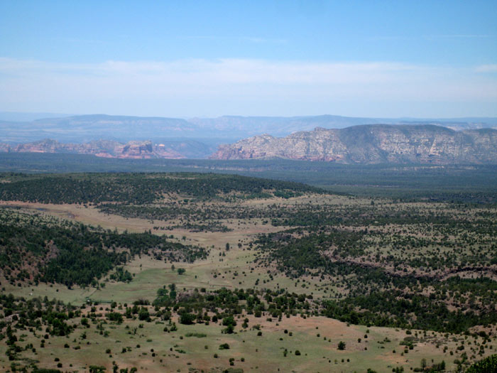 View of the Sedona area from atop Apache Maid Mountain