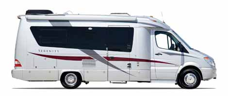 Exterior of the Serenity Sprinter motorhome