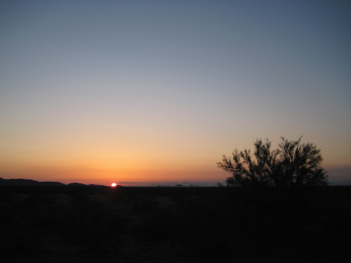 Sonoran Desert sunrise near Tonopah