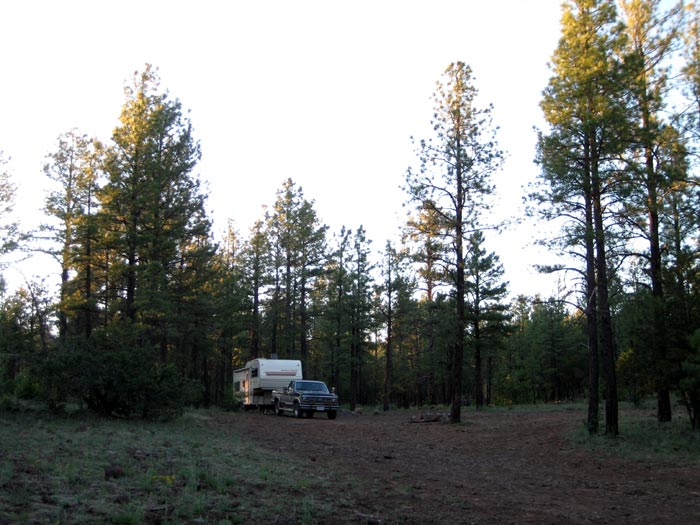 RV Camping near Stoneman Lake off of Forest Service Road 229