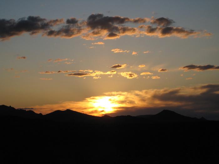 Arizona sunset over the Gila Bend Mountains