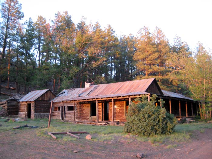 The T-Bar Ranch is a historic homestead on the edge of the meadow adjacent to Apache Maid Mountain