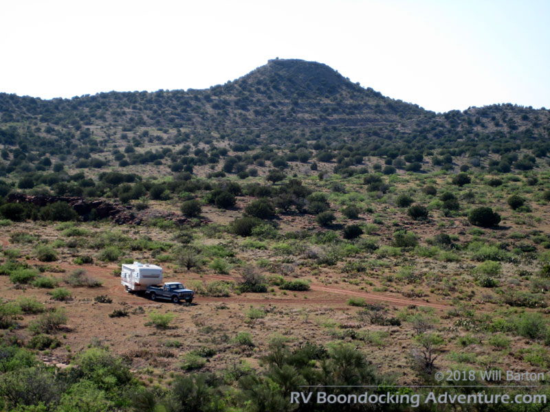 RV boondocking in the Verde Valley near Red Tank Draw. Picture taken southwest of the intersection of FR-618 and FR-121.
