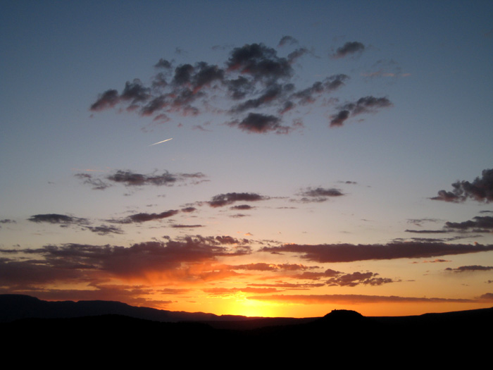 Sunset from a hillside near Red Tank Draw. Picture taken southwest of the intersection of FR-618 and FR-121.