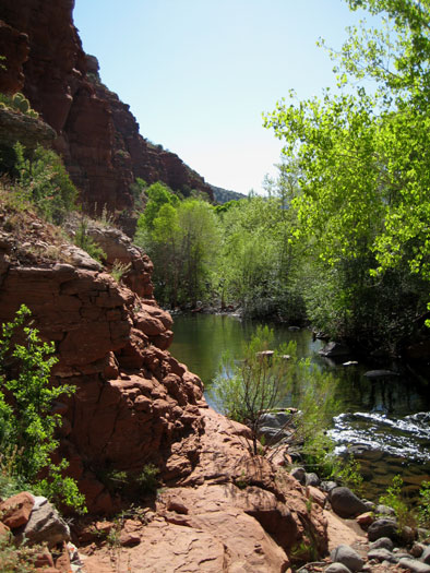 West Clear Creek and it's colorful red rock canyon