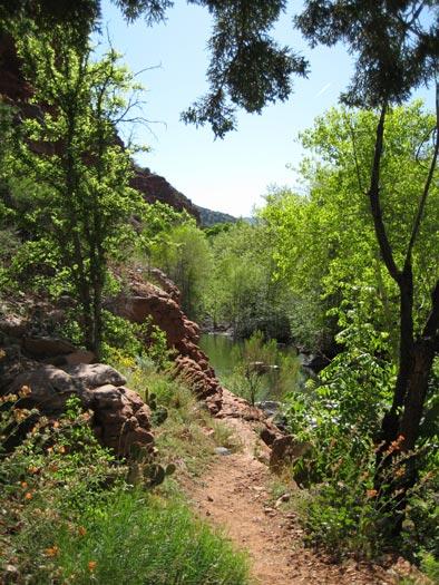 West Clear Creek Trail where it soon crosses West Clear Creek
