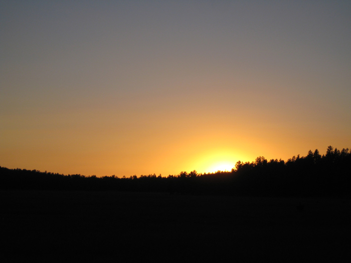 Sunset near Apache Maid Mountain in the Coconino National Forest