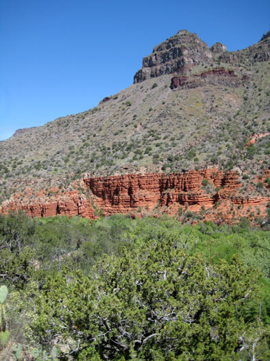 View of West Clear Creek Canyon while hiking West Clear Creek Trail