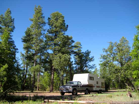 Dispersed Camping in the Coconino National Forest, Arizona
