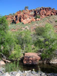 Picture of Fallen Red Rock at Red Tank Draw near Sedona, Arizona