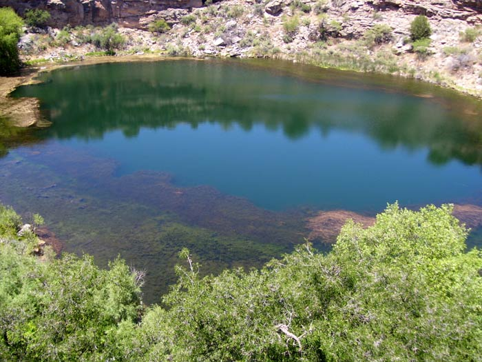 The colorful waters of Montezuma Well