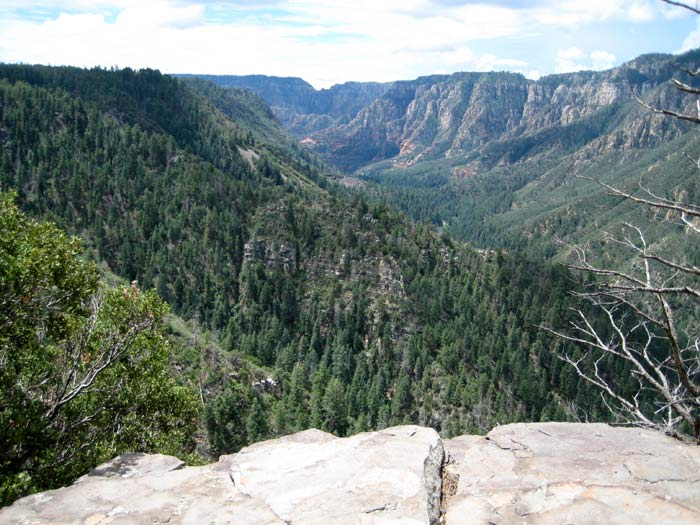 A gorgeous vista of Oak Creek Canyon while hiking Thomas Point Trail