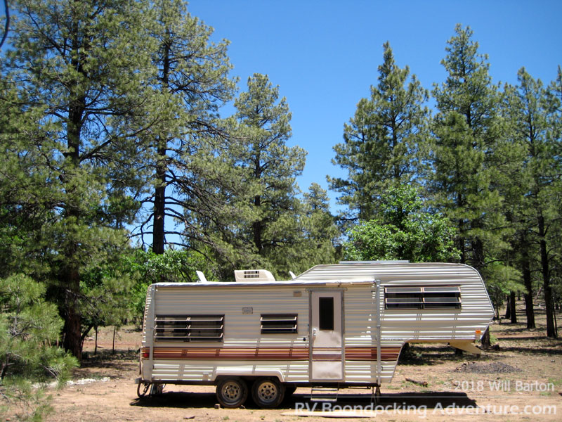 RV camping west of Priest Draw off of National Forest Road 700