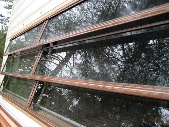 After months of sunshine, rain begins to fall once again over Arizona. It's the start of monsoon season. This type of RV window (louver window) is especially nice to have when the rain does fall.
