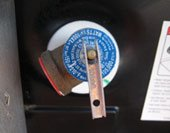 RV Water Heater P&T Valve