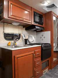 Galley on the Jamboree Sport DSL Sprinter motorhome