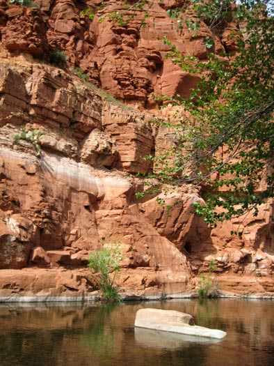 West Clear Creek showing off it's famous red rock