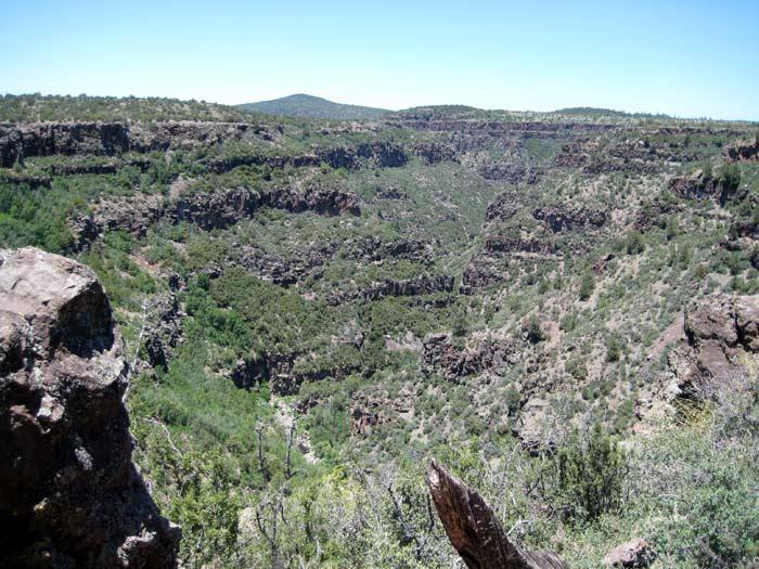 Wet Beaver Creek Canyon in Wet Beaver Wilderness near its origin south of Apache Maid Mountain