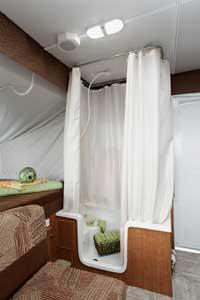 Pop-Up Camper indoor shower