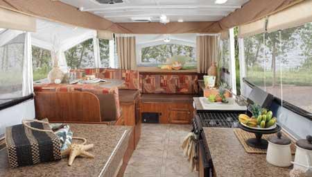 Pop-Up Camper interior