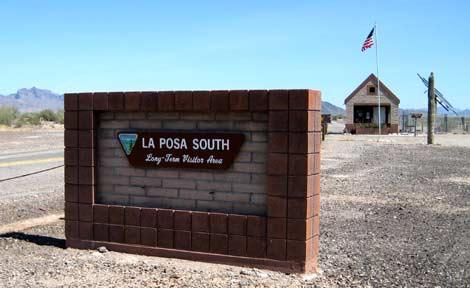 RV Boondocking: Entrance to the La Posa South LTVA near Quartzsite, AZ