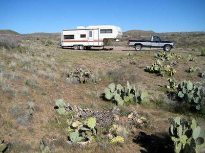 RV camping next to Badger Springs Wash